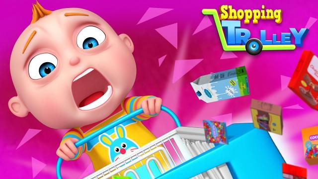 3d Animation Kids Cartoon Funny Videos About Too Too Boy Shopping Trolley
